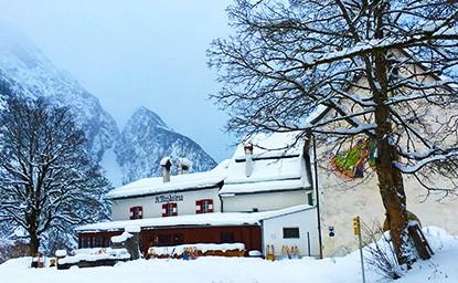 St. Magdalena (1.287m), Halltal, Karwendel, 16.1.2016
