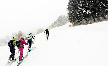Waldraster Jöchl (1.878 M), Stubai, 17.1.2016