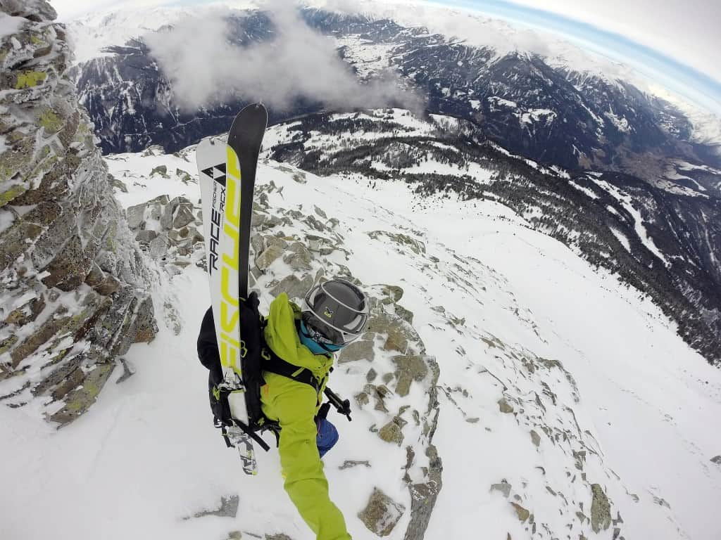 Aifner Spitze (2.558m), Kaunergrat, Ötztaler Alpen, 3.3.2016