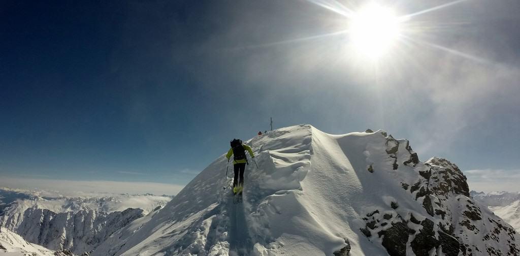 Zwieselbacher Rosskogel (3.080m), Stubaier Alpen, 10.3.2016