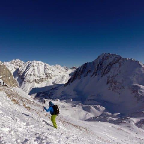 Arzlerscharte (2.158m), Mandlscharte (2.366m), Karwendel, 21.1.2017