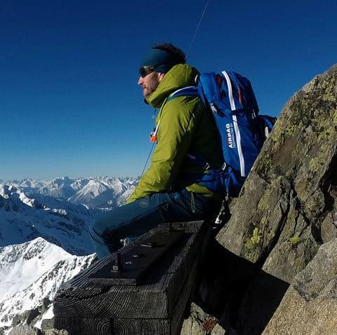 Rietzer Grieskogel (2.884m), Mitterzeigerkopf (2.628m), Kühtai (25.1.2017)