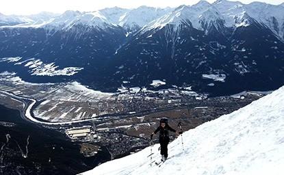 Hohe Munde Ostgipfel (2.592m) + Westgipfel (2.662m), Mieminger Gebirge, 12.2.2017
