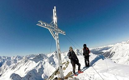 Kraspesspitze (2.594m), Stubaier Alpen, 19.02.2017