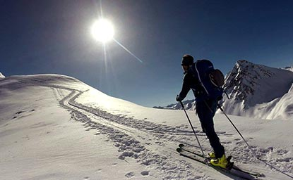 Hohe Köpfe (2.608m), Paznaun (13.2.2017)