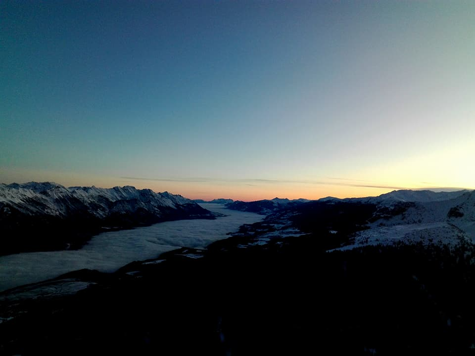 Trilogie, Axamer Lizum, Stubaier Alpen, 6.12.2017