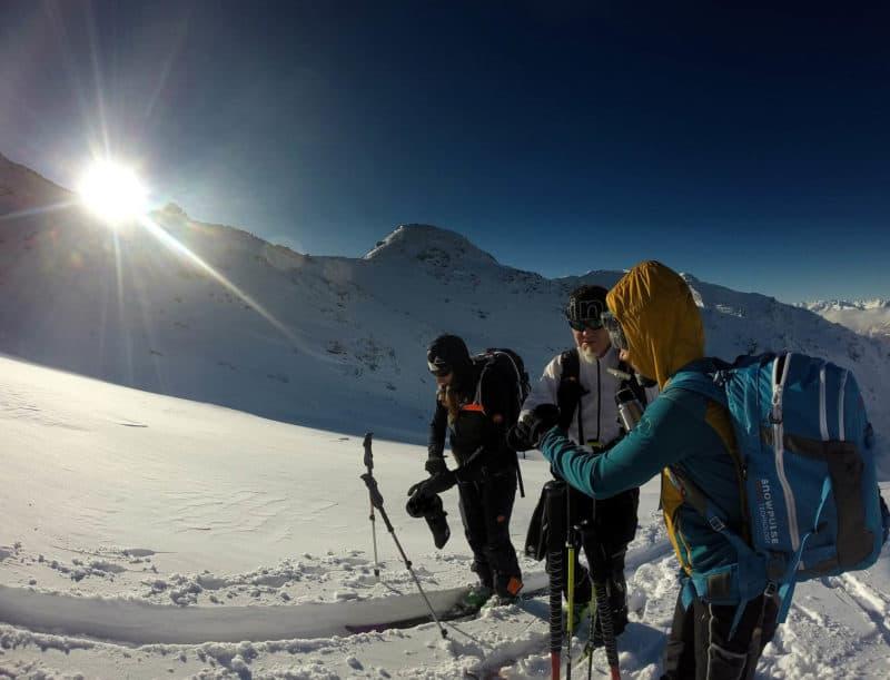 Grünbergspitze (2.790m), Tuxer Alpen, 29.12.2017