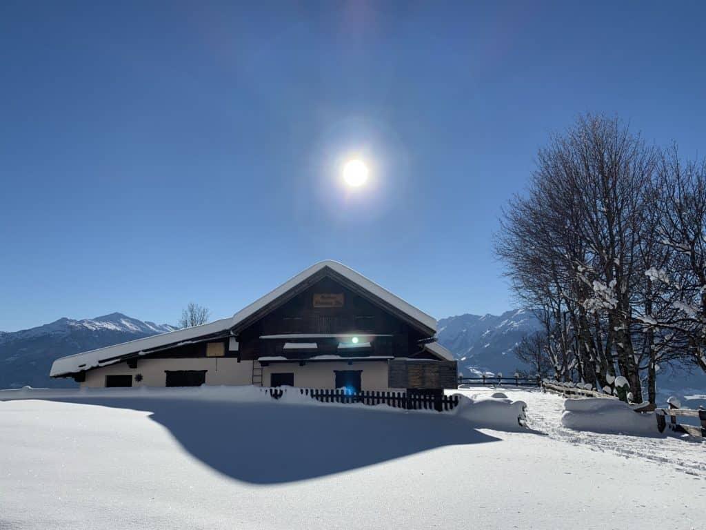 Hinterhornalm (1152m), Walderalm (1511m), Karwendel, 14.12.2018