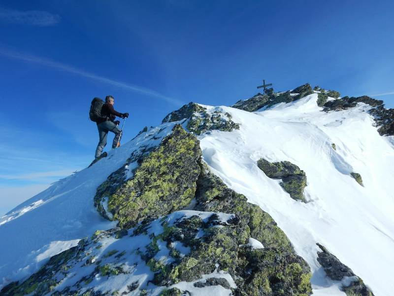 Seekarspitze (2.646m), Tuxer Alpen, Voldertal, 19.1.2019