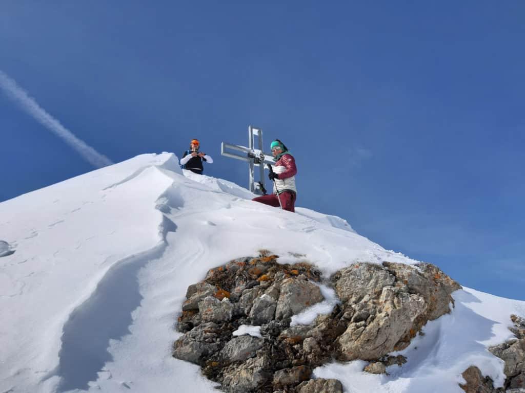 Pfoner Kreuzjöchl (2.640m), Tuxer Alpen, 16.3.2019