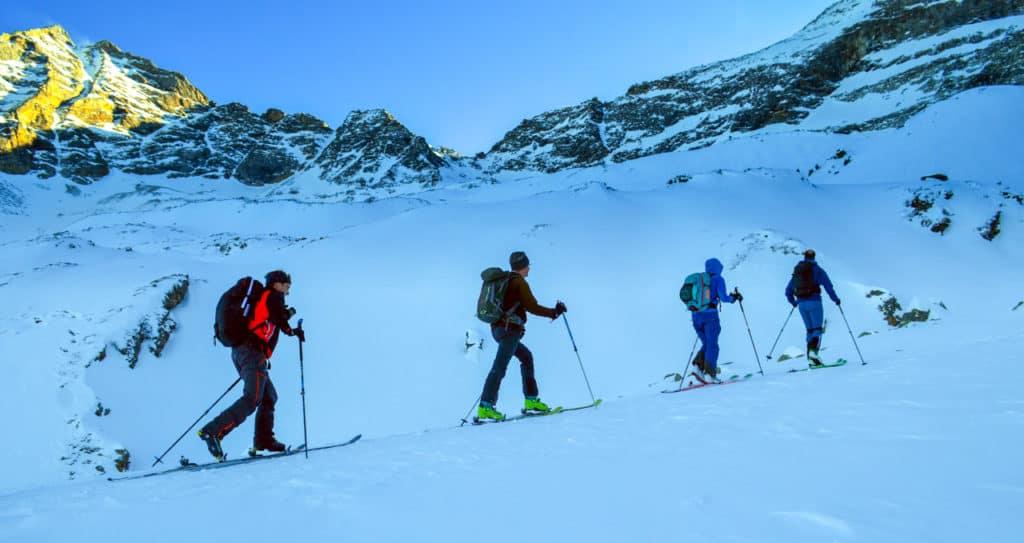 Alpeiner Scharte Von Innervals, Zillertaler Alpen, 2.1.2020