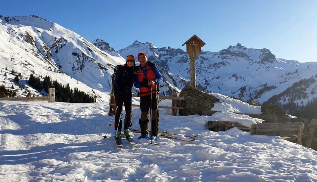 Naviser/volderer Sonnenspitze (2.619m), Tuxer Alpen, 16.1.2020