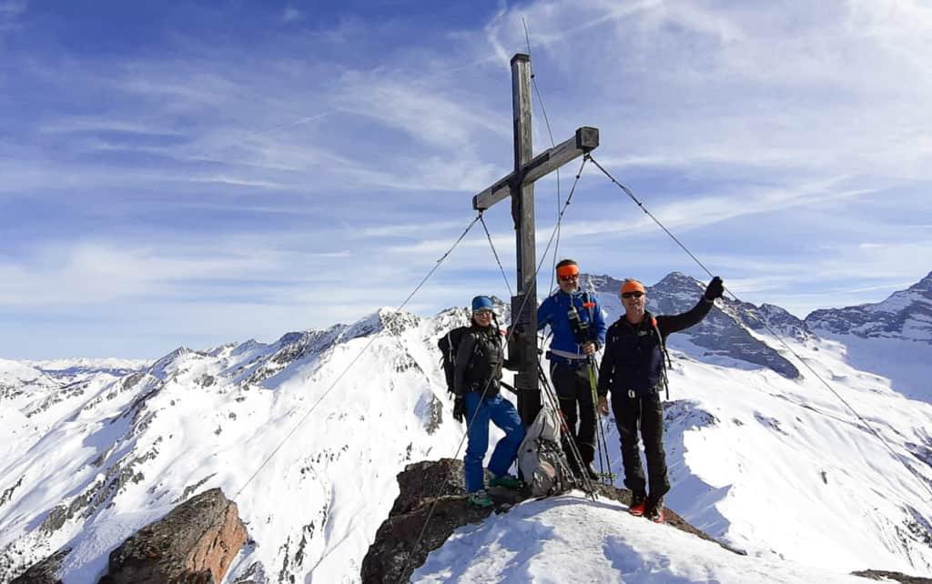 Hohe Warte (2.625m), Schmirntal, Tuxer Alpen, 20.2.2020